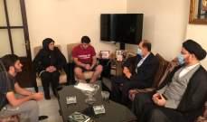 وفد مكتب السيد السيستاني يزور عوائل شهداء انفجار بيروت