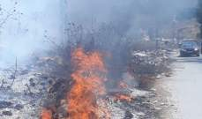 النشرة: مجهولون أضرموا النار بكمية كبيرة من النفايات على طريق الدوير