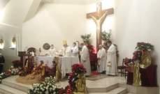 السفير البابوي احتفل مع أبناء رعية مار أنطونيوس البادواني في حرش تابت بقداس رأس السنة