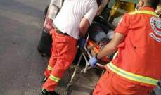 جريح في حادث صدم دراجة ناريّة في منطقة الشرحبيل
