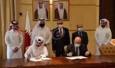سفير دولة قطر سلم الجمارك اللبنانية 100 جهاز كومبيوتر و40 جهاز طابعة