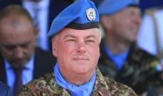 قائد اليونيفيل: الانتهاكات الاسرائيلية لسيادة لبنان وال 1701 تزيد في تصعيد التوترات