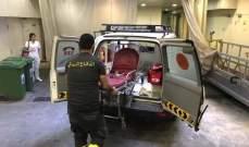 اصابة مواطن اثر سقوطه عن علو 3 أمتار على الكورنيش البحري في غزير