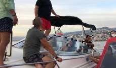 الدفاع المدني: إنقاذ سبعة أشخاص على متن زورق معطل في العقيبة