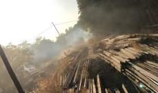 النشرة: إخماد حريق شب في اعشاب يابسة في رياق في البقاع