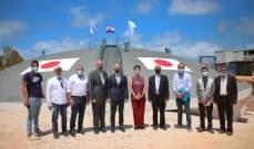 جولة لسفير اليابان بلبنان وممثلة اليونيسيف على مشروع خزان للمياه أنشأه اتحاد بلديات الضاحية الجنوبية