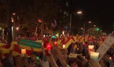 مظاهرات حاشدة في برشلونة تضامنا مع المعتقلين المناصرين لانفصال كتالونيا