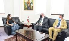عكر عرضت مع لونغدن للعلاقات الثنائية وتبلغت من ميهاليي اعتذار وزير خارجية المجر عن زيارته لبنان