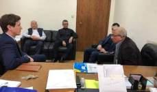 أسامة سعد يستقبل وفدا من السفارة البريطانية