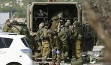 الجيش الاسرائيلي اعتقل 15 فلسطينياً في الضفة الغربية