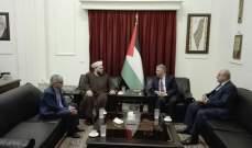 دبور التقى وفدا من حركة الأمة وتأكيد أن القدس ستبقى العاصمة الابدية لفلسطين