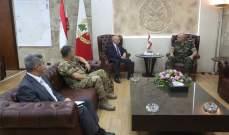 ماروتي بعد لقائه العماد عون: إيطاليا ملتزمة مساعدة لبنان بمجال الدفاع
