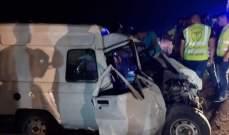 اصابة 9 إشخاص بحادث سير على طريق كفرا