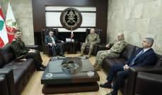قائد الجيش التقى السفير المصري الجديد بزيارة تعارف لمناسبة توليه مهمته بلبنان