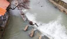 النشرة: موجة برد تلف منطقة حاصبيا وارتفاع منسوب نهر الحاصباني