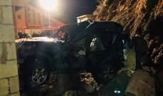 إصابة سوري جراء انقلاب سيارته في جزين