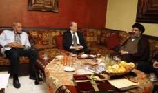 """عون وبري ونصرالله: الحكومة مستمرة بـ""""كامل مواصفاتها"""""""