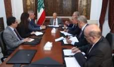 الرئيس عون عرض مع كوبيتش التطورات الأخيرة ولاسيما الاعتداء الاسرائيلي على الضاحية