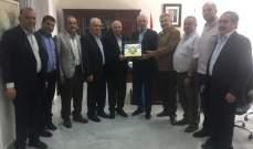 زعيتر استقبل الاتحاد الوطني للتعاونيات في لبنان وجمعية بترونيات وأديار