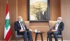 ميقاتي عرض مع سفير ألمانيا العلاقات الثنائية بين البلدين