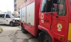 الدفاع المدني: إخماد حريق داخل مبنى في جل البحر- صور