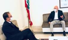 سلام عرض مع سفير فرنسا التطورات والاوضاع العامة