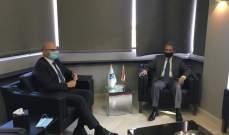 وزني بحث مع السفير الألماني في دعم بلاده للبنان