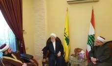 الشيخ أحمد القطان والشيخ ماهر عبد الرزاق زارا المكتب السياسي لحزب الله