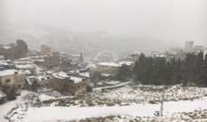 الثلوج غطت القرنة السوداء ومرتفعات الضنية