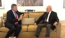سلام التقى لازاريني وعرض معه التطورات في لبنان