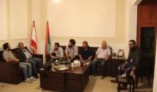 سعد التقى وفدا من اللجنة الوطنية لتحرير الاسير جورج عبدالله