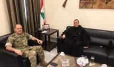 الأب بوعبود التقى اللواء محمود الاسمر