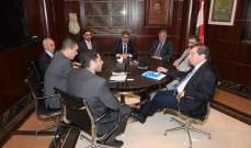 الفرزلي استقبل وفدا من الهيئة العربية الدولية للاعمار في فلسطين