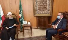 الشيخ الخطيب: لتشكيل حكومة انقاذية اصلاحية تقوم بمهامها الوطنية بإخراج لبنان من الوضع الخطر