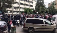 وقفة تضامنية مع القدس أمام جامع الامام علي في الطريق الجديدة