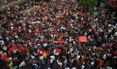 الآلاف احتشدوا في رانغون احتجاجا على الانقلاب العسكري في بورما