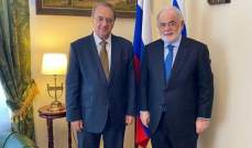 بوغدانوف التقى أبوزيد: ملتزمون بمواصلة الاتصالات مع جميع القوى السياسية الرائدة لتعزيز الاستقرار