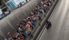 وصول المتظاهرين الآتين من مصرف لبنان الى منطقة الرينغ مقابل برج الغزال