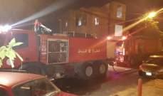 الدفاع المدني يخمد حريقاً شب داخل متجر لبيع المواد الغذائية في الشوف
