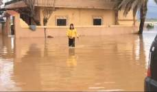 فيضانات وسيول في القرى والبلدات الساحلية عند مصبات الأنهر بعكار والأهالي يناشدون مساندتهم