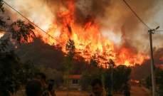 اندلاع حرائق غابات جديدة في اليونان وإخلاء عدد من البلدات