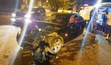 4 جرحى بحادث سير على طريق عام بلدة فاريا كسروان