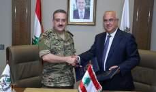 """توقيع مذكرة تفاهم بين قيادة الجيش وشركة """"LIBAN POST"""""""