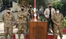 عكر قامت بزيارة تفقدية لعدد من مراكز ألوية الجيش: الثقة بالمؤسسة العسكرية هي الضمانة لقيام لبنان