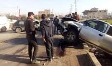 8 جرحى جرّاء حادث سير على طريق عام ديرزنون