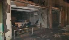 اخماد حريق داخل محطة محروقات وسيارة مركونة في جل الديب