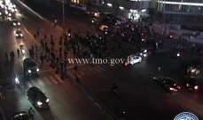 التحكم المروري: قطع السير على تقاطع برج الغزال في بيروت