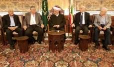 دريان التقى لجنة دعم المسجد الأقصى في بيروت وبحثا الاوضاع العامة