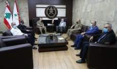 قائد الجيش بحث مع الصمد وفتفت على رأس وفد من منطقة الضنية اخر التطورات