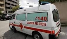 اصابة شخصين بجروح في حادث سير على اوتوستراد عمشيت
